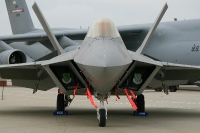 A newly delivered F-22 takes centre stage at Langley AFB Open House - 2011